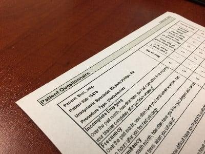 Urodyanmics Incontinence Patient Questionnaire